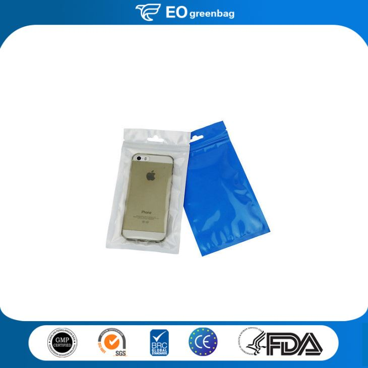 Plastic Electronic Bag with Zipper