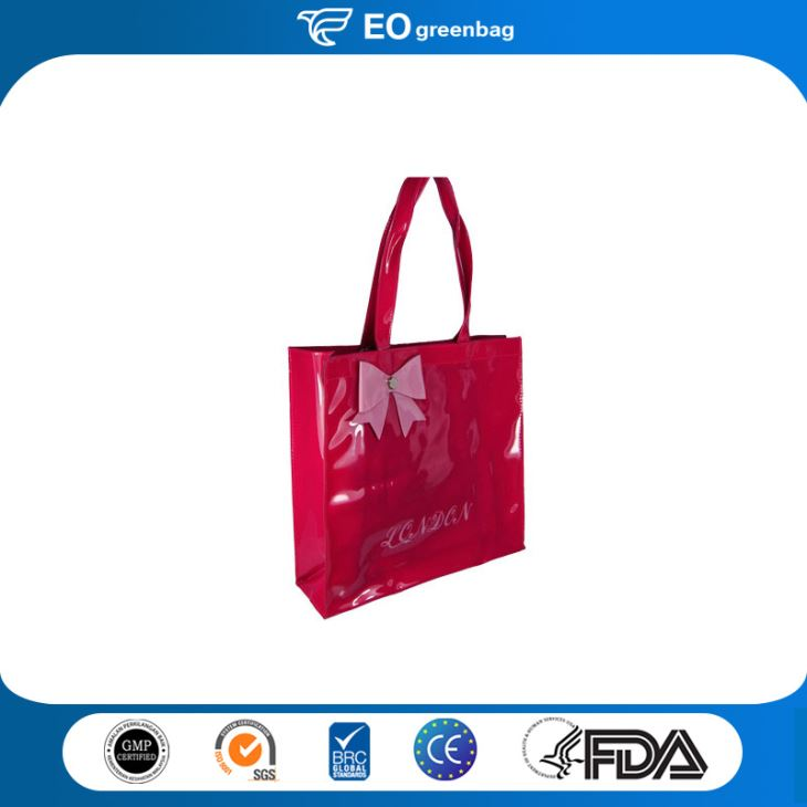 PVC Shopping Bag with Bow