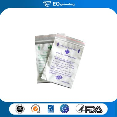 Plastic Medical Bag with Zipper